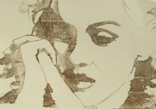 Marylin Monroe, print on paper, by Moodyline
